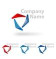 Triangle logo design vector