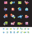 Shipping and mail delivery icons set vector