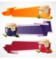 Jam origami banners set vector