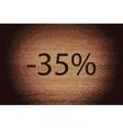 35 percent discount icon symbol flat modern web vector
