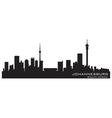 Johannesburg south africa skyline detailed silhoue vector
