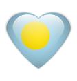 Palau flag button vector