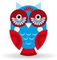 Funny owl on white background vector