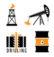 Oil industry design template vector