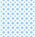 Blue soft polka dot seamless pattern vector