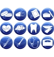 Medical icons of button vector