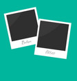 Before after instant photo flat design vector