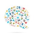 Social talk bubble vector