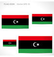 Libya flag template vector