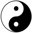 Yin-yang symbol vector