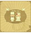 Retro design wedding card vector