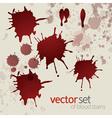 Splattered blood stains set 3 vector