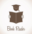 Book reader sign vector