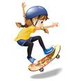 A female skateboarder vector
