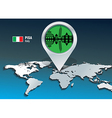 Map pin with pisa skyline vector