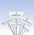 Marketing white signs vector