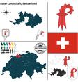 Map of basel landschaft small vector