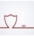 Modern shield icon on gray vector
