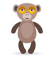 Cartoon of a monkey on a white background vector