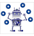 Blue robot vector