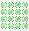 Abstract set of timers - green timer icons vector