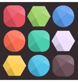 Flat background faceted shapes for icons vector