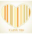 Valentines day heart retro invitation postcard vector