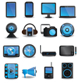 Technology device icons vector