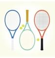 Tennis rackets and balls vector