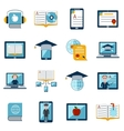 E-learning icons set vector