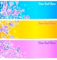 Colorful blue yellow and violet flower banners vector