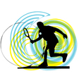 Man playing tennis vector