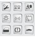 Car dashboard icons 3 vector