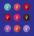 Map navigation icons vector