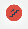 Stairs up icon vector