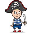 Boy in pirate costume cartoon vector