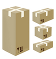 Isometric card-box icons vector