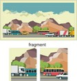 Transportation background vector