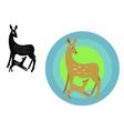 Deer emblem vector
