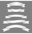 Silver ribbons flags vector