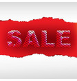 Red torn sale poster vector