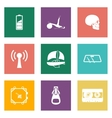 Color icons for web design set 3 vector
