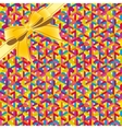 Abstract geometric seamless pattern whis ribbon vector