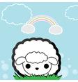 Cute little sheep vector