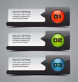 Modern option banners vector