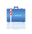 First aid in blue bag vector
