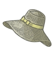Female summer hat vector