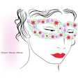 Woman in colorful mask vector