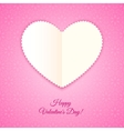 Heart of paper valentines card vector