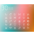 Baby outline icons set vector